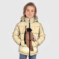 Куртка зимняя для мальчика Конь БоДжек цвета 3D-черный — фото 2