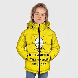 Куртка зимняя для мальчика Будьте умнее своих источников цвета 3D-черный — фото 2