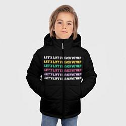 Куртка зимняя для мальчика Прокачаем друг друга цвета 3D-черный — фото 2