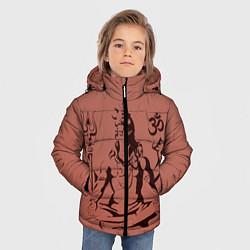 Куртка зимняя для мальчика Бог Шива цвета 3D-черный — фото 2