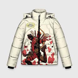 Детская зимняя куртка для мальчика с принтом Deadpool, цвет: 3D-черный, артикул: 10275015906063 — фото 1