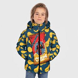 Детская зимняя куртка для мальчика с принтом Deadpool чипсы, цвет: 3D-черный, артикул: 10275016306063 — фото 2