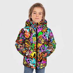 Куртка зимняя для мальчика STANDOFF 2 STICKERS цвета 3D-черный — фото 2