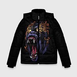 Куртка зимняя для мальчика Горила Рёв цвета 3D-черный — фото 1