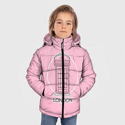 Куртка зимняя для мальчика Телефонная будка, London цвета 3D-черный — фото 2