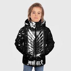 Куртка зимняя для мальчика Атака на титанов цвета 3D-черный — фото 2