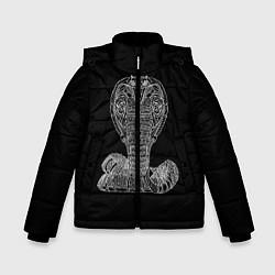 Куртка зимняя для мальчика Змея цвета 3D-черный — фото 1