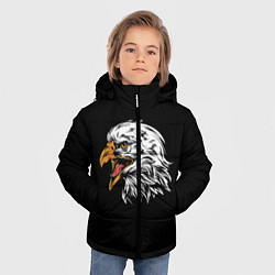 Детская зимняя куртка для мальчика с принтом Орёл, цвет: 3D-черный, артикул: 10276237906063 — фото 2
