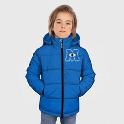 Куртка зимняя для мальчика Университет Монстров цвета 3D-черный — фото 2