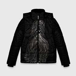 Куртка зимняя для мальчика Девушка - призрак цвета 3D-черный — фото 1