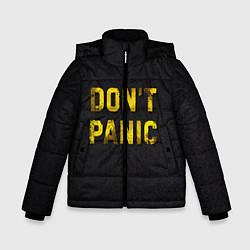 Куртка зимняя для мальчика DONT PANIC цвета 3D-черный — фото 1