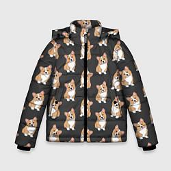 Куртка зимняя для мальчика Корги малыши цвета 3D-черный — фото 1
