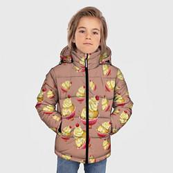 Куртка зимняя для мальчика Пирожное с вишней цвета 3D-черный — фото 2