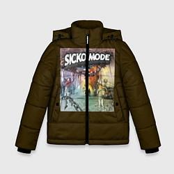 Куртка зимняя для мальчика Travis scott sicko mode цвета 3D-черный — фото 1