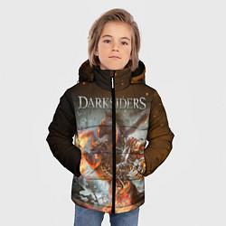 Куртка зимняя для мальчика Darksiders Z цвета 3D-черный — фото 2