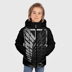 Куртка зимняя для мальчика Атака Титанов 2 цвета 3D-черный — фото 2
