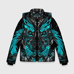 Куртка зимняя для мальчика Абстракция тигр - фото 1