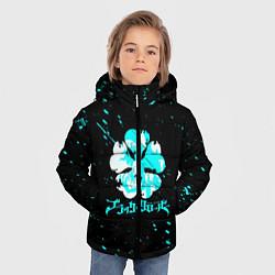 Куртка зимняя для мальчика Черный клевер цвета 3D-черный — фото 2