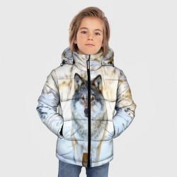 Куртка зимняя для мальчика Я зимой цвета 3D-черный — фото 2