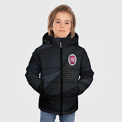 Детская зимняя куртка для мальчика с принтом FIAT ФИАТ S, цвет: 3D-черный, артикул: 10284909706063 — фото 2