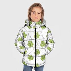 Куртка зимняя для мальчика Клевер на День святого Патрика цвета 3D-черный — фото 2