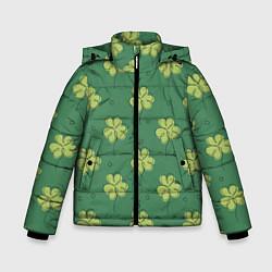 Куртка зимняя для мальчика Узор на День святого Патрика цвета 3D-черный — фото 1