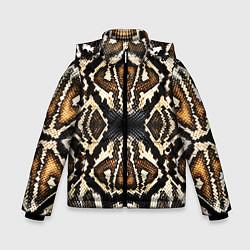 Куртка зимняя для мальчика Шкура Питона цвета 3D-черный — фото 1