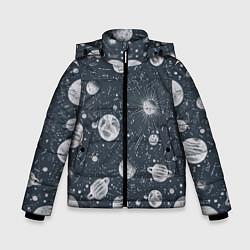 Куртка зимняя для мальчика Звезды, планеты и созвездия цвета 3D-черный — фото 1