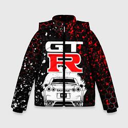 Куртка зимняя для мальчика NISSAN GT-R НИССАН GTR цвета 3D-черный — фото 1