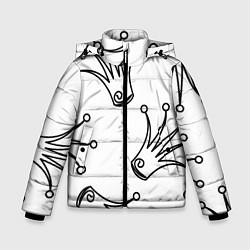 Куртка зимняя для мальчика Короны цвета 3D-черный — фото 1
