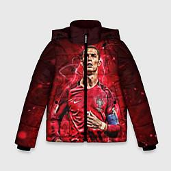 Куртка зимняя для мальчика Cristiano Ronaldo Portugal цвета 3D-черный — фото 1