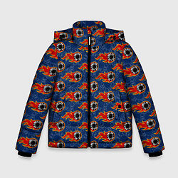 Куртка зимняя для мальчика Poker цвета 3D-черный — фото 1