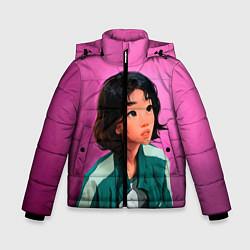 Куртка зимняя для мальчика 067 игра в кальмара цвета 3D-черный — фото 1