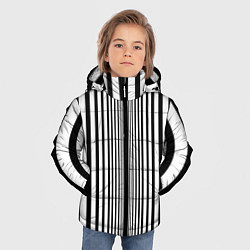 Куртка зимняя для мальчика Эффект Доплера костюм Шелдона цвета 3D-черный — фото 2