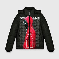 Куртка зимняя для мальчика Сыграй в Кальмара цвета 3D-черный — фото 1