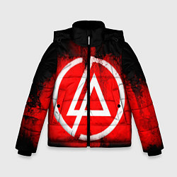 Куртка зимняя для мальчика Linkin Park: Red style цвета 3D-черный — фото 1