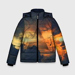 Детская зимняя куртка для мальчика с принтом 30 seconds to mars, цвет: 3D-черный, артикул: 10063910606063 — фото 1