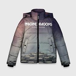 Детская зимняя куртка для мальчика с принтом Imagine Dragons: Night Visions, цвет: 3D-черный, артикул: 10064384306063 — фото 1