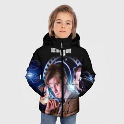 Куртка зимняя для мальчика Одиннадцатый Доктор цвета 3D-черный — фото 2