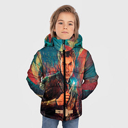 Детская зимняя куртка для мальчика с принтом Доктор кто, цвет: 3D-черный, артикул: 10065373406063 — фото 2