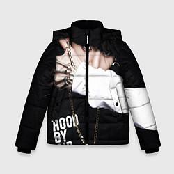 Детская зимняя куртка для мальчика с принтом BTS: Hood by air, цвет: 3D-черный, артикул: 10071615206063 — фото 1