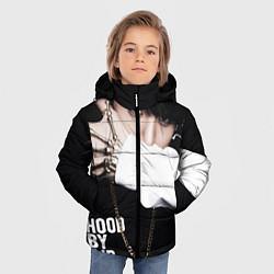 Куртка зимняя для мальчика BTS: Hood by air цвета 3D-черный — фото 2