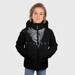 Детская зимняя куртка для мальчика с принтом Vikings Emblem, цвет: 3D-черный, артикул: 10073057906063 — фото 2