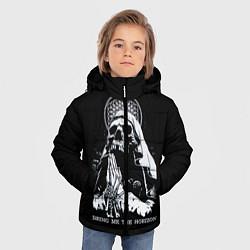 Детская зимняя куртка для мальчика с принтом BMTH: Skull Pray, цвет: 3D-черный, артикул: 10073642906063 — фото 2