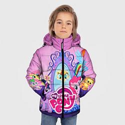 Детская зимняя куртка для мальчика с принтом My Little Pony, цвет: 3D-черный, артикул: 10075444706063 — фото 2