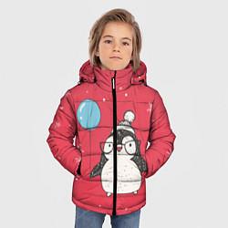 Куртка зимняя для мальчика Влюбленная пингвинка - фото 2