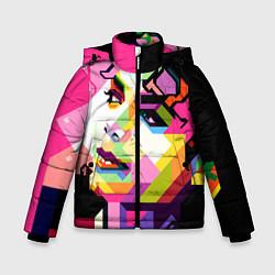Куртка зимняя для мальчика Michael Jackson Art цвета 3D-черный — фото 1