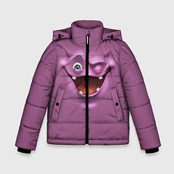 Куртка зимняя для мальчика Пластилиновый смайл цвета 3D-черный — фото 1