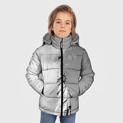 Куртка зимняя для мальчика Статуя Свободы цвета 3D-черный — фото 2