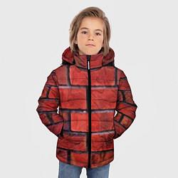 Детская зимняя куртка для мальчика с принтом Кирпич, цвет: 3D-черный, артикул: 10081034906063 — фото 2